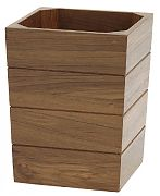 WhiteCap 63102 Teak Small Waste Basket