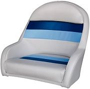 Wise 8WD120LS1008 Captain´s Bucket Chair - White/Navy/Blue