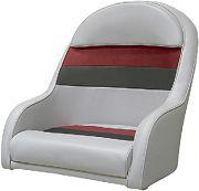 Wise 8WD120LS1012 Pontoon Capt Chair Lt Gy/Rd/Ch