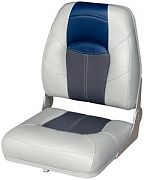 Wise 8WD1461840 Wide High Back Boat Seat - Charcoal/Navy