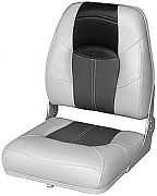 Wise 8WD1461855 Wide High Back Boat Seat - Charcoal/Black