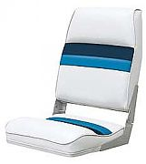 Wise 8WD434LS1008 High Back Boat Seat - White/Navy/Blue
