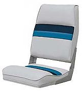 Wise 8WD434LS1011 High Back Boat Seat - Gray/Navy/Blue