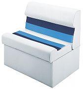 Wise 8WD951008 Pontoon Bench - White/Navy/Blue