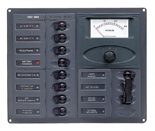 Bep Marine 900 Ac2h Am 110 10 Way Ac Circuit Breaker Panel