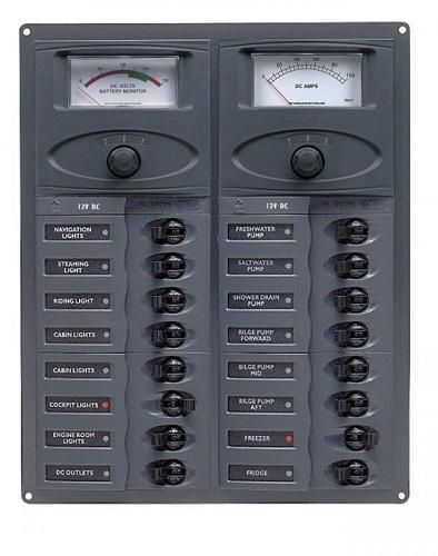 Bep Marine 904 Am 16 Way Dc Circuit Breaker Panel Bep