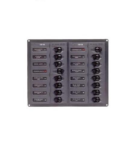 BEP Marine 904NM 16 Way DC Circuit Breaker Panel - BEP