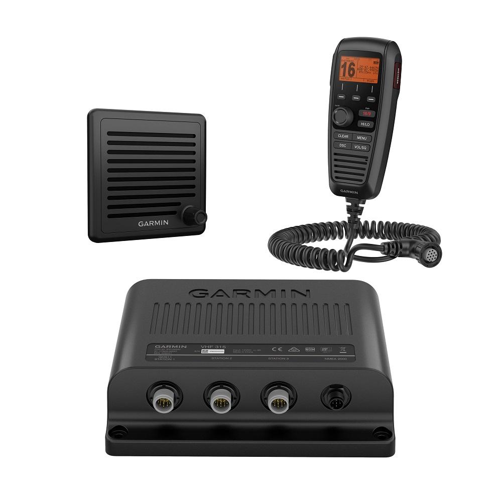 Garmin VHF315 VHF Marine Radio Black