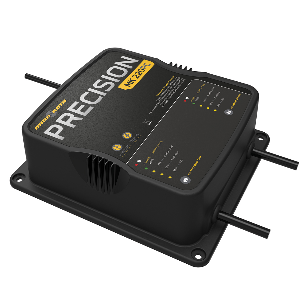 Marine Battery Charger And Monitor : Minn kota mk pc precision charger bank amps