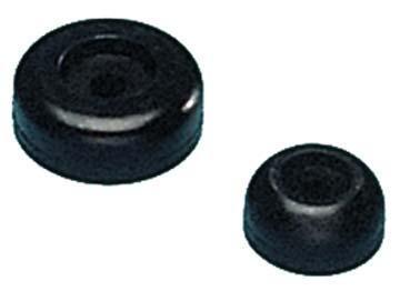 """4 Pack 2-1//2/"""" OD Boat Trailer Black Molded Rubber Side Guide Roller End Caps"""
