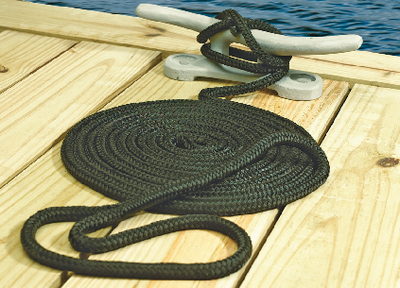 "New Premium Double Braided Nylon Dock Line seadog 302110020nv-1 Navy 1//2/"" 20/'"