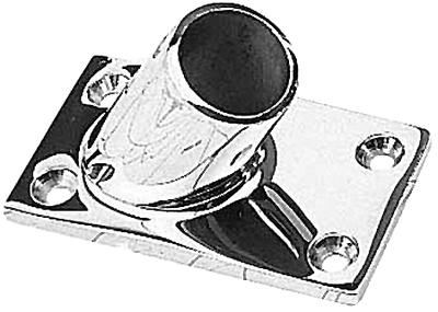 """Hand Rail Fitting 60 deg rectangle base 1 1//4/"""" tube Stainless"""