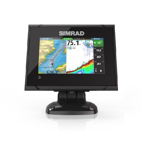 Simrad go5 xse 5 fishfinder chartplotter no transducer for Simrad fish finder