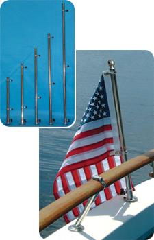 "Taylor Made 965 1/"" Ss Top Mount Flag Pole Socket"