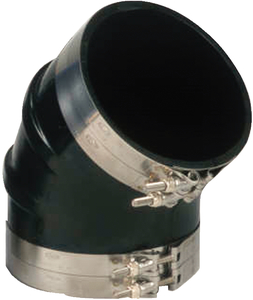 Trident Trl345ss Black Rubber 45 Degree Elbow 3 Quot I D