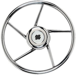 Uflex v06 13 8 5 spoke stainless steel steering wheel