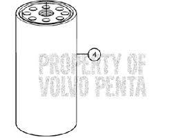 volvo penta 3809721 fuel filter insert