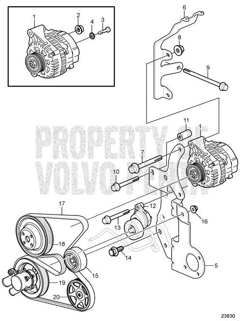 vlp3888177 volvo penta 3888177 belt volvo penta 3888177 belts engine