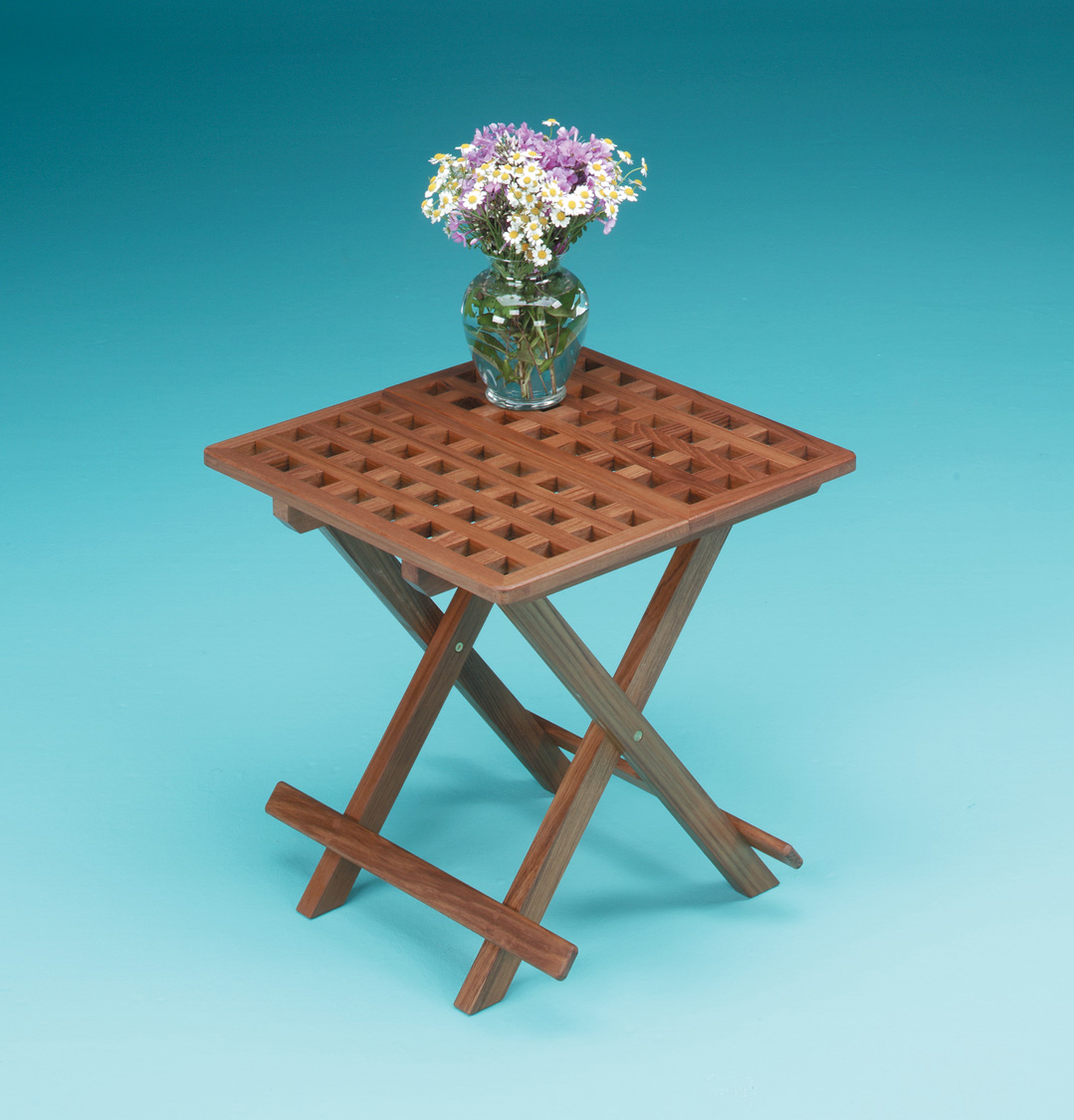 Whitecap 60030 teak grate top fold away table whitecap 60030 boat tables galley cabin - Fold away table ...