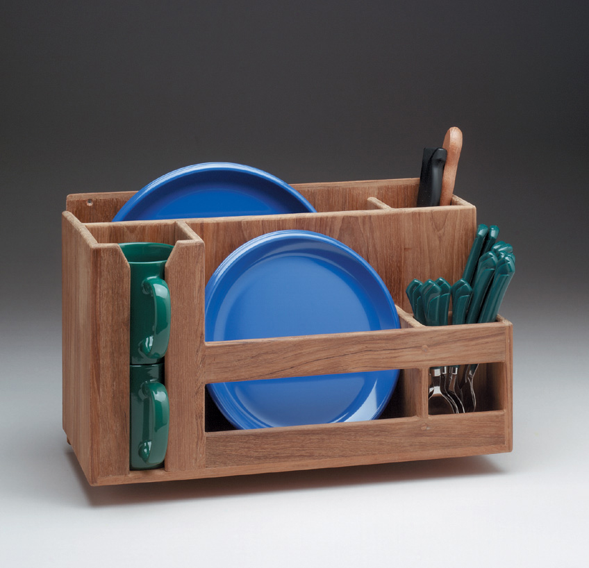 Whitecap 62404 Teak Dish Cup Utensil Holder
