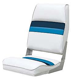 Wise 8wd434ls1008 high back boat seat white navy blue